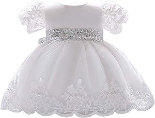 a4f193c204bc5 Happy Cherry - Robe de Baptême Bébé Fille Manches Courte Robe de Princesse  pour Fête d