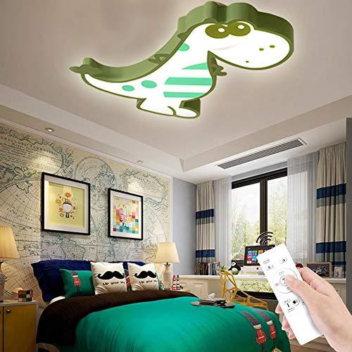 LED Dinosaurier Deckenleuchte Kinder Schlafzimmer Kronleuchter Moderne Innendekoration Decke Lampe Kindergarten Leuchten Dimmbare Deckenlicht Kreative Wohnzimmer Schlafzimmer Kinderzimm,Grün,60cm