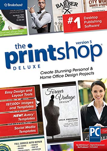 The Print Shop Deluxe 5.0 - Creative Design Suite for home and small business [PC Download]
