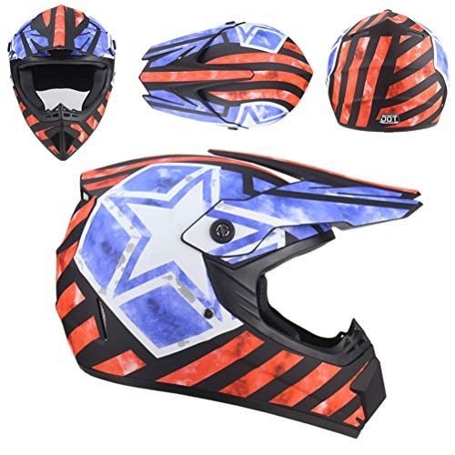 Kuccy Moto Casco, Enduro Adulto Cross Helmets Motocascos Cascos Racing Motocicleta Motocross BT-230 Serie Unisex Off-Road Scooter Hombre Moto-Cross Helmet (S, M, L, XL),M