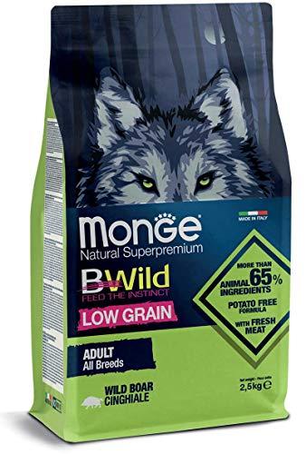 Monge Cane CROCCHETTA BWILD Low Grain all Breeds Adulto con Cinghiale 12 kg.