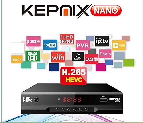 hevc Receptor de satélite Kepnix nano h.265 iptv m3u xtream 1080p Soporte PowerVu Biss ccam Youtube Wifi usb vs gtmedia v8 nova
