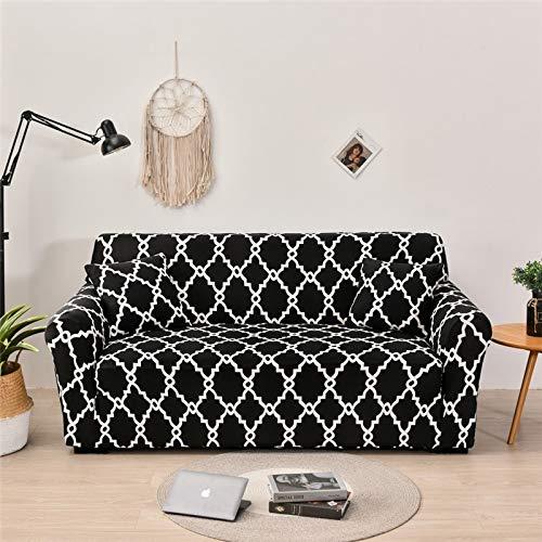 ASCV Fundas de sofá elásticas geométricas para Sala de Estar Sofá de Esquina seccional Moderno Funda de sofá Funda de sofá Protector de Silla A5 2 plazas