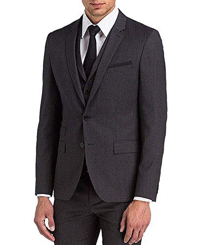 Black John Wick Keanu Costume 3 pièces pour homme - Noir - XXL