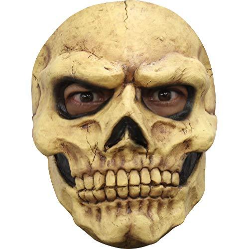 Klassische Totenkopf Skelett Halbmaske - Erwachsene Horror Kostüm Maske - ideal für Halloween, Karneval, Motto- & Grusel-Party