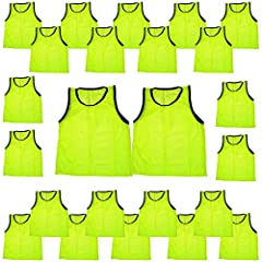 Size: Youth ~ approximately 17 inches wide by 22 inches long (measured from the back of neck to bottom of vest) Lightweight: these vests are made of a very light weight, mesh material Easy wear: very easy to put on and take off Durable fabric: very d...