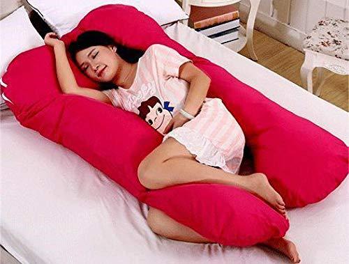 Cojin De Lactancia Almohadilla De Maternidad Zona Almohadilla De Apoyo De Maternidad De Algodón Acolchado Almohada De Lactancia Materna para El Embarazo-Rojo