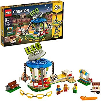 595-Piece Lego 31095 CREATOR 3-in-1 Fairground Carousel (2019 set)