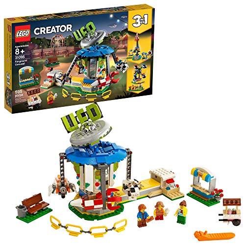 LEGO Creator 3in1 Fairground Carousel 31095 Building Kit (595 Pieces)