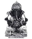 DharmaObjects Ganesh Ganesha Statue (Silver, 9 INCHES)