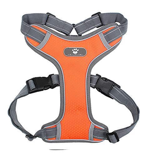 Xiaojie Cinturón de mascota transpirable malla chaleco de pecho transpirable, naranja - S