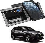 Chargeur sans Fil de Voiture pour Mazda CX5 2017 2018 2019 2020 Panneau D'accessoires de Console...