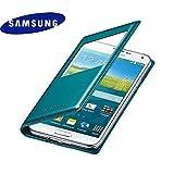 (ギャラクシ)Galaxy S5 SC-04F Sビューカバー SAMSUNG純正 GALAXY S5 S-VIEW Cover フリップカバーケース (GREEN) [並行輸入品]