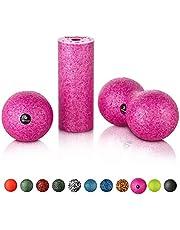 BODYMATE Mini-set: mini-fasciarol lengte 15 x diameter 6 cm; bal diameter 8 cm; duobal diameter 8 cm - verschillende kleuren