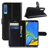 betterfon | Wallet Hülle Handytasche Schutzhülle Klapptasche Handyhülle Handy Tasche Schale Hülle für Samsung Galaxy A7 2018 SM-A750 Schwarz