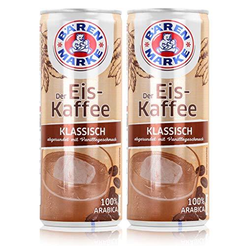 Bärenmarke Eiskaffee 0,25 Liter Dose - 1,8% Fett im Milchanteil - 100% Arabica (2er Pack)