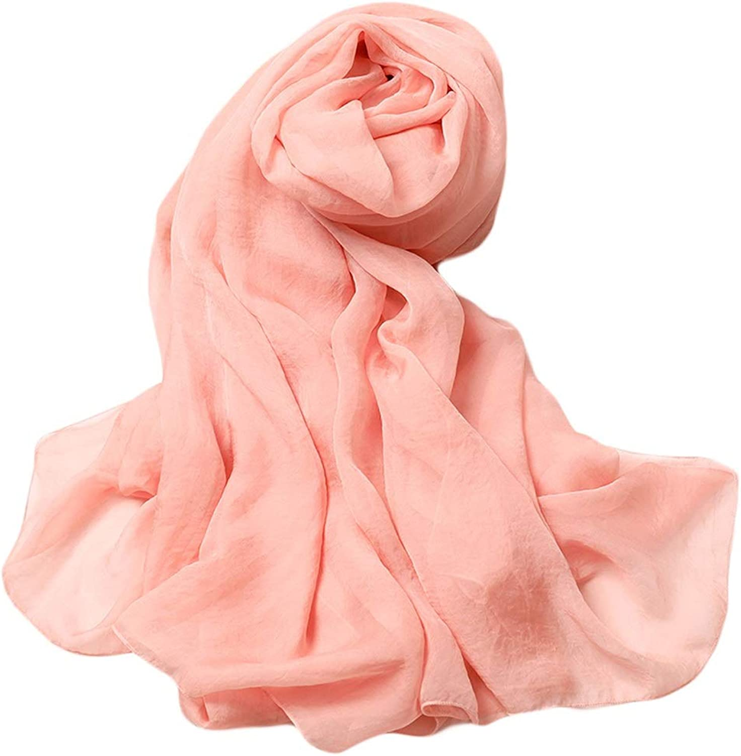 Beach Towel Meat Pink Scarf Female Spring and Autumn Wild Long Scarf Shawl Solid color Seaside Sunscreen Shawl Oversized Models 300CM150CM
