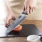 Kitchen Emperor Damastmesser Santoku, Kochmesser Santokumesser, 67 Schichten Damastmesser mit G10 Griff - 3
