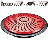 Feuerkorb Heizung Elektro 2Positionen Wärmeentwicklung Cup für Tisch CAMILLA. Leistung 400/900W. Hohe Qualität. Kabellänge: 2Meter Spannung: 230V, 50Hz. Maße: Ø370* 95mm