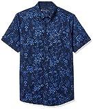 Ben Sherman Men's SS FLRL Blue Shirt, Heather Navy, L