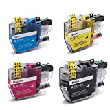 vhbw 4X Tintenpatronen mit Chip für Brother DCP-J572DW, DCP-J770, DCP-J772DW, DCP-J774DW, MFC-J490, MFC-J491DW, MFC-J497DW - Druckerpatronen Set