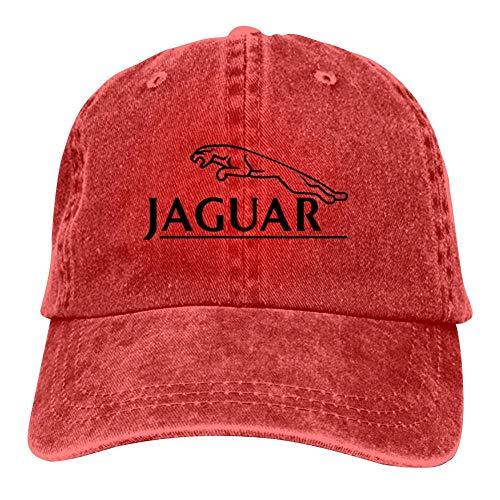 BEKAI Leopard Logo Cowboy Cap Baseball Peaked Snapback Cap for Mens/Womens Red