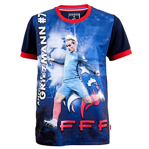 France Football Team Official FFF 'Griezmann' Kids Soccer Jersey - Blue (12 Years)