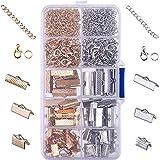 TOMYEER 370 Pièces Fermoir Mousqueton Bracelets Griffe Fermoirs Pince Ensemble pour Création de Bijoux Bracelets des Colliers kit avec Boite