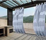 Clothink - Cortinas para exteriores con ojales...