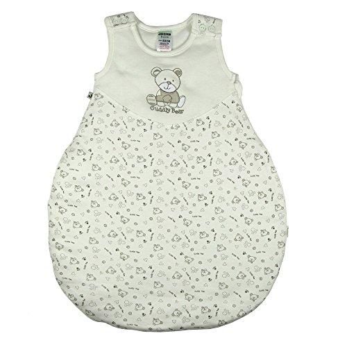 Jacky Baby Mädchen und Jungen Schlafsack, wattiert, Cuddly Bear, Alter 12-24 Monate, Größe: 86/92, Farbe: Off White, 327103