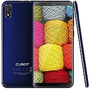 Cubot J3 Dual SIM Android Go Ultra dünn Smartphone ohne Vertrag,5 Zoll (18:9) Touch-Display, 16GB + 1GB, Quad-Core Prozessor, Handy, Face ID, nutzbares GPS, Blau
