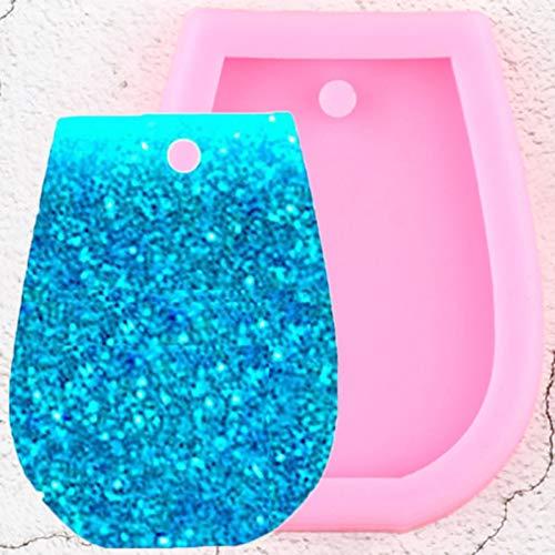 UNIYA Molde de llaveros con Forma de Copa de Vino Brillante, moldes de Silicona, Llavero, Arcilla polimérica, joyería DIY, Colgante, fabricación de moldes de Resina epoxi
