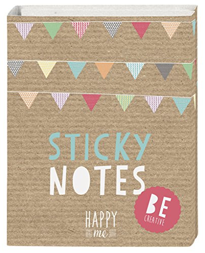 moses. 63104 Happy me Sticky Notes Büchlein, 180 Haftnotizzettel