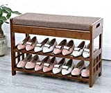 N/Z Inicio Equipo Taburetes Zapatero Armario de Almacenamiento de Madera Banco de Zapatos de Madera Maciza de Alta Capacidad 69.5 * 29 * 49cm Taburete para Cambiar Zapatos
