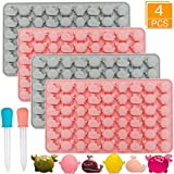Gummy Candy Molds - 4 Pack Whale Crab penguin Chocolate Molds with 2 Droppers - Party Novelty Gift for Kids