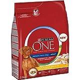 Purina OneMedium/Maxi Crocchette Cane Adult Ricco in Pollo con Riso, 4 Sacchi da 2.5 kg Ciascuno