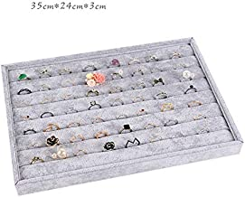 Jewellery Organiser Tray - Stackable Jewellery Display Tray Removable Velvet Jewelry Storage Trays for Drawers for Earring, Ring, Necklace,watch,Bracelet