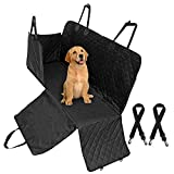 Gaoni Dog Car Seat Cover-Waterproof with Door Protection, Durable NonSlip Scratch Proof Machine Washable Pet Back Seat Cover, Car Seat Protector, Dog Travel Hammock for all Cars, with 2 Dog Seat Belts