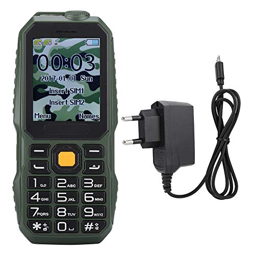 Mini teléfono móvil Militar a Prueba de Golpes, Mini teléfono estándar Militar Bluetooth, batería de Gran Capacidad de 1000 mAh, con Radio FM, antorcha, cámara, MP3, grabadora, etc.