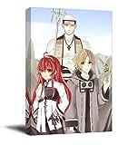 Trelemek Mushoku Tensei Isekai Ittara Honki Dasu - Lienzo impreso enmarcado (5 x 7,6 cm), diseño de anime rudeus Sylphiette