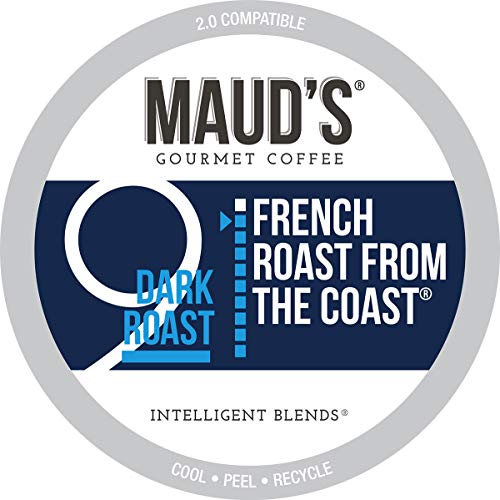 Maud's French Roast Coffee (French Roast From The Coast), 100ct. Solar Energy Produced Recyclable Single Serve French Roast Coffee Pods – 100% Arabica Coffee California Roasted, KCup Compatible