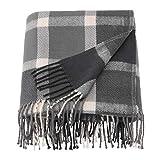 IKEA Kaveldun Throw Gray Off White 404.025.85 Size 51x71