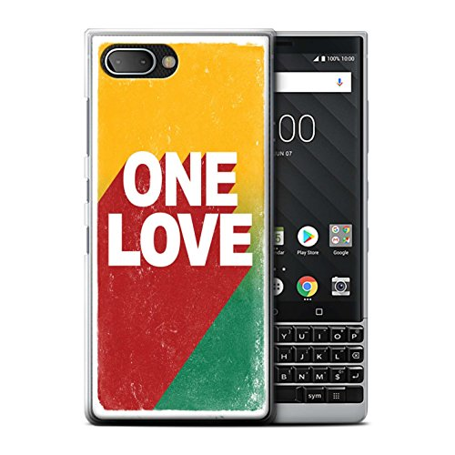 Preisvergleich Produktbild Stuff4 Hülle / Case für BlackBerry KEY2 / BBF100 / One Love Poster Muster / Rasta Reggae Kunst Kollektion