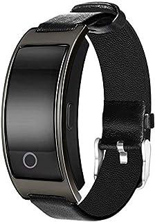 WUHUAROU Pulsera Inteligente Reloj de presión Arterial Oxígeno Pulsera de frecuencia cardíaca Podómetro Reloj Inteligente a Prueba de Agua (Color : Black)