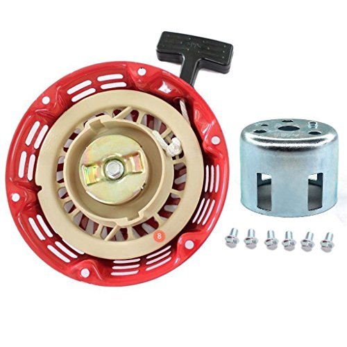 HURI Recoil Starter Pull Start Cup Screw for Champion Power Equipment 196cc 6.5HP 3000 3500 4500 Watt Gasoline Generator 46558 46561 46596 46533 46534 46535 46539 46540 46551 46553 46554 46555 40025