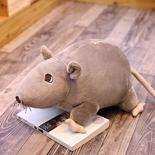 KXCAQ 20-60cm Ratón Simulado Super Ratón de Peluche Muñeco de Peluche Rata de Peluche Juguetes de Animales de Peluche para Niños Decoración de Regalo de Mascota 60cm Gris