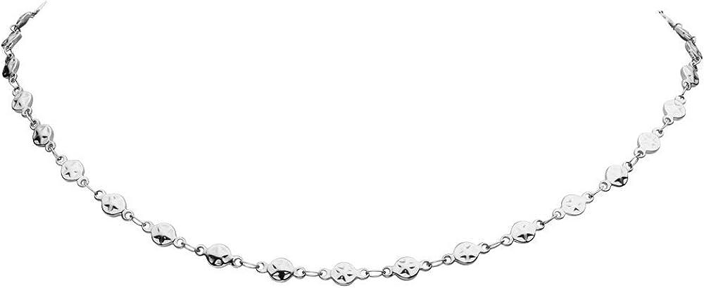 Faye® collana donna girocollo star circle choker - in argento o oro rosa FY-IPS-2-029