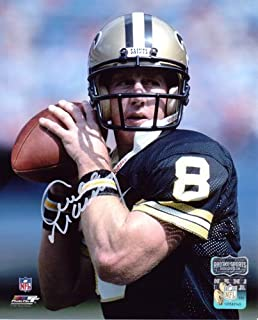 Archie Manning Autographed/Signed New Orleans Saints 8x10 NFL Photo - Black Jersey