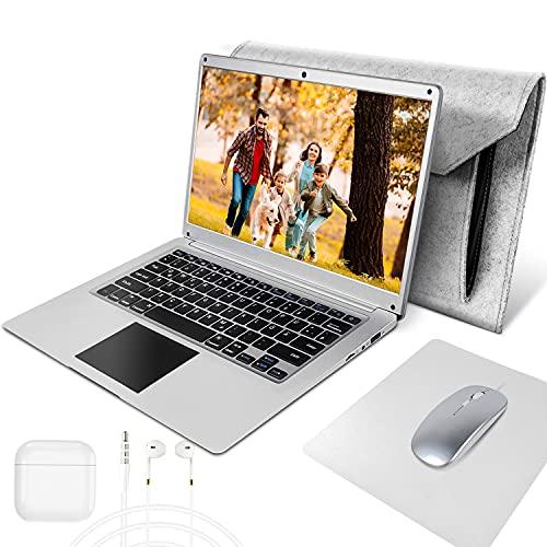 14.1-Zoll Laptop Intel Celeron N3350 4 GB RAM 64 GB Notebook mit Qwertz Tastaturlayout