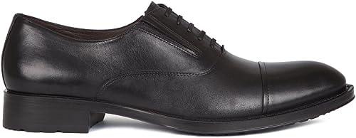 TJ Collection - Sandalias de vestir de Piel para hombre negro negro